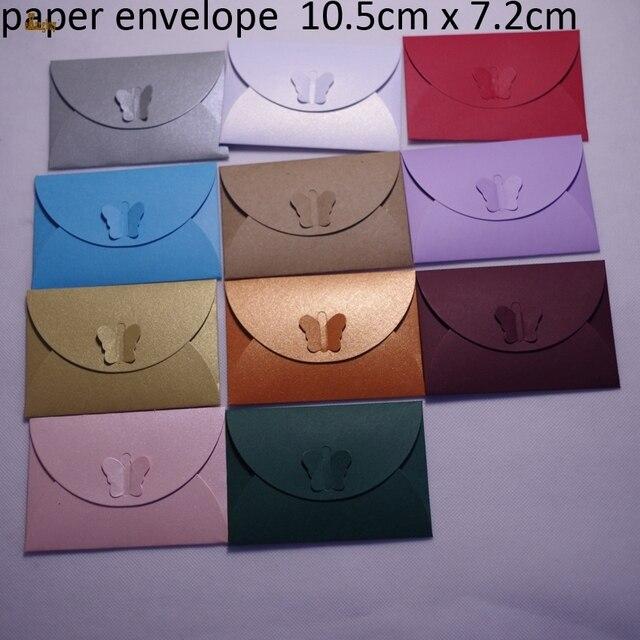 100 Stücke 10,5x7 Cm Perle Papier Nette Bunte Schmetterling Verschluss  Umschläge/mailer