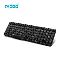 Original Rapoo E1050 2 4G USB Wireless Keyboard Ultra Silm Mini Protable Metal For PC Laptop