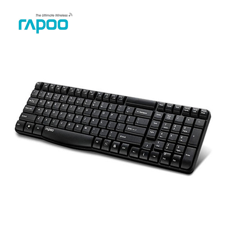 Original Rapoo E1050 2.4G USB Wireless Keyboard for PC Laptop desktop Table rapoo 8300 2 4ghz htpc wireless keyboard