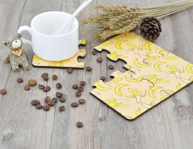 Houten Accessoires Keuken : Set partij diy sublimatie blank houten tafel placemat coaster