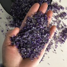 100g Natural Mini Amethyst Point Quartz Crystal Stone Rock Chips Lucky Healing F147 Feifanstyle Natural Stones and Minerals(China)