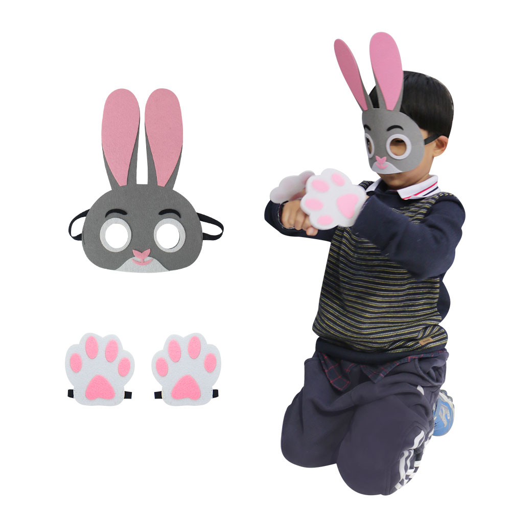 SPECIAL Child Rabbit Mask Baby Shower Party Cosplay Toys Masks Costume Brand Dress Birthday Gifts Cartoon Masque Kits