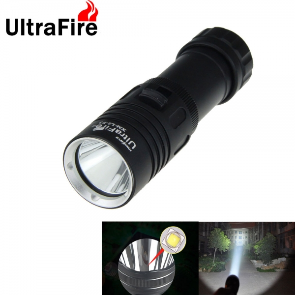 UltraFire Waterproof Diving Flashlight XM-L2-F3 1000 Lumens Adjustable White Light LED Diving Torch lantern (1 * 18650 / 26650 ) diving 4000 lumens cree xm l2 led 3 l2 led t6 flashlight torch waterproof underwear lamp light super white light
