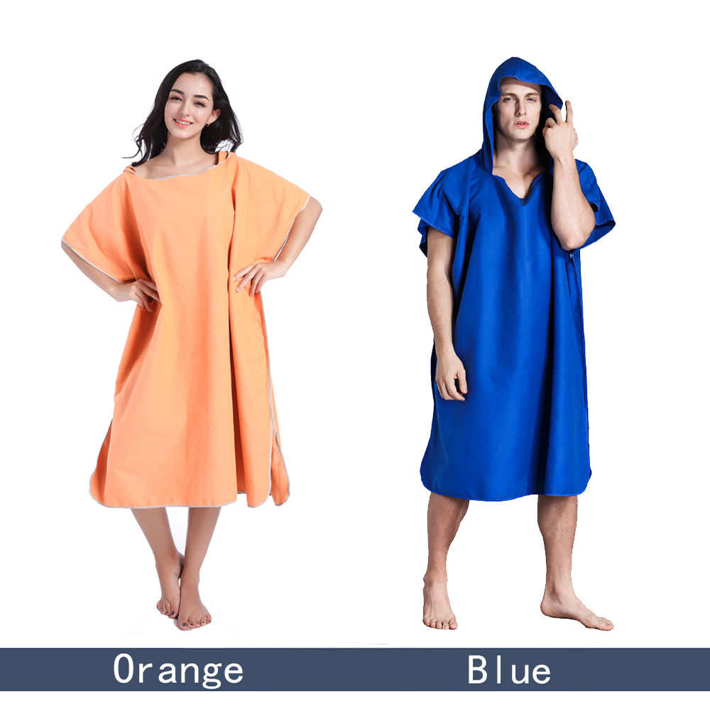 e2fa7686ee Changing Robe Bath Towel For Adult Hooded Beach Towels Poncho Bathrobe  Suitable For Women Man Terry