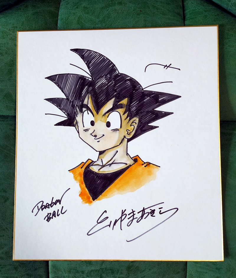 hand drawn Toriyama Akira autographed Shikishi Card Art Board Dragon Ball 02201904hand drawn Toriyama Akira autographed Shikishi Card Art Board Dragon Ball 02201904