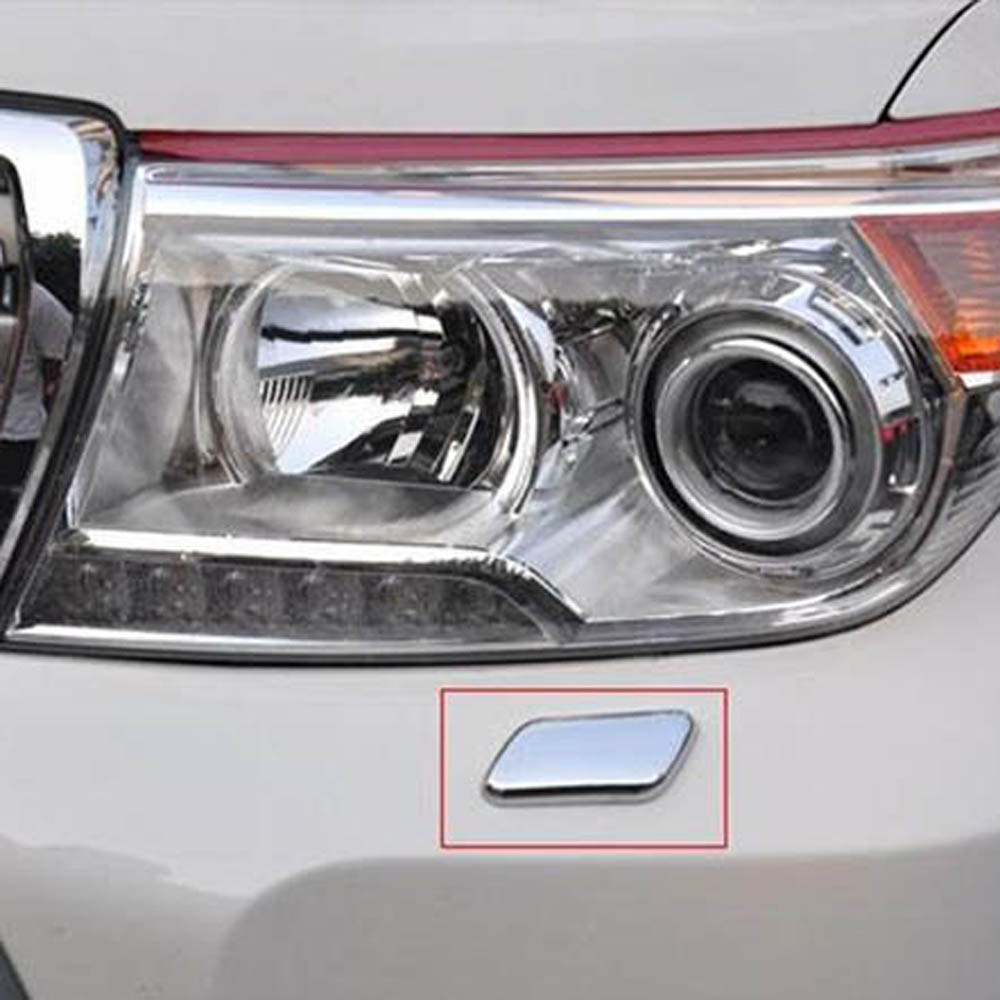 Exterior Accessories for LAND CRUISER FJ200 LC200 5700 4700 headlights front lights water spout spray nozzle sticker trim cover ...