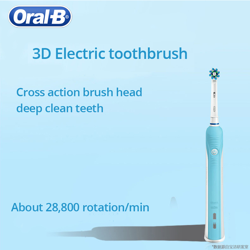Oral B 3D Electric Toothbrush PRO600 Oral Hygiene Electric Rechargeable Tooth brush Heads Deep Clean 3D White Teeth Brush Head