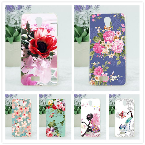 For Fly IQ4416 Case Cover,Diy Painting Colored Flowers Fruit Soft Tpu Case Cover For Fly IQ4416 Era Life 5 Cases Sheer 10 Colors