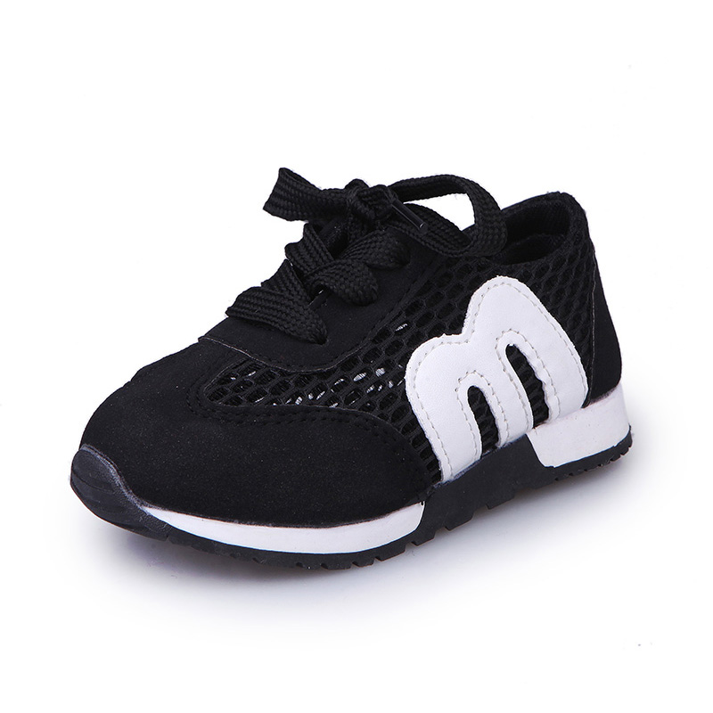 Children's M Alphabet Shoes Running Kids Shoes Sports Non-slip Sneakers Track And Field Shoes Shoes Single Layer Mesh