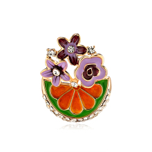 Fashion Plant Brooches for Women Broche Rhinestone Flower Brooch Pin Lapel Pins Hat Badges Jewelry Accessories rhinestone octopus flower pins and brooches for women plant brooch pearl crystal metal badges natural stone clothes jewelry gift
