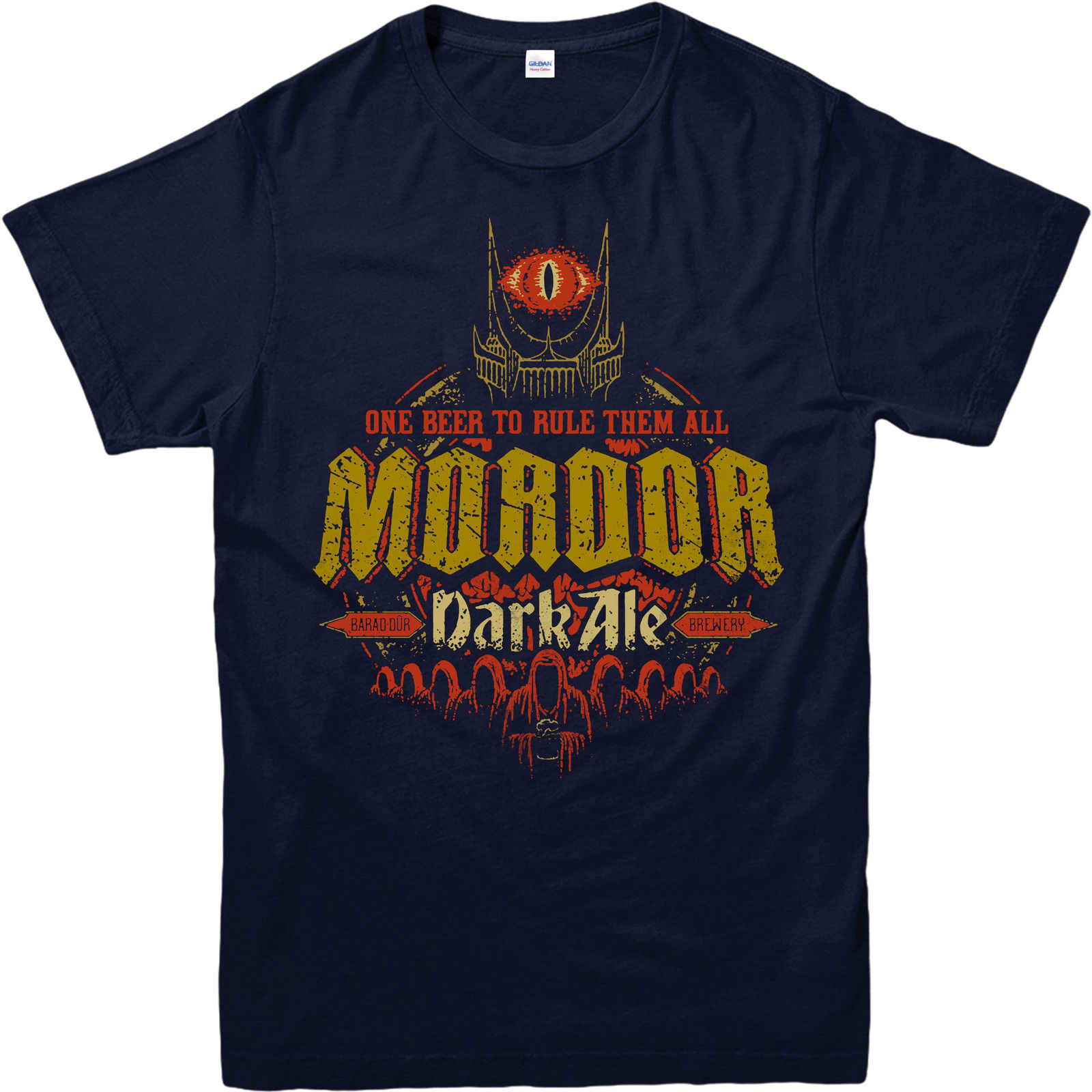 Футболка «Властелин Колец», Mordor Dark Ale SPOF, хлопковые мужские футболки для взрослых и детей, классические футболки, базовые модели