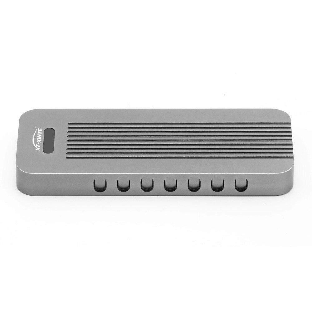 Boîtier en alliage d'aluminium NVMe PCIE USB3.1 HDD boîtier M.2 à USB disque dur SSD type de boîtier C 3.1 M connecteur de clé boîtier HDD pour bureau - 4