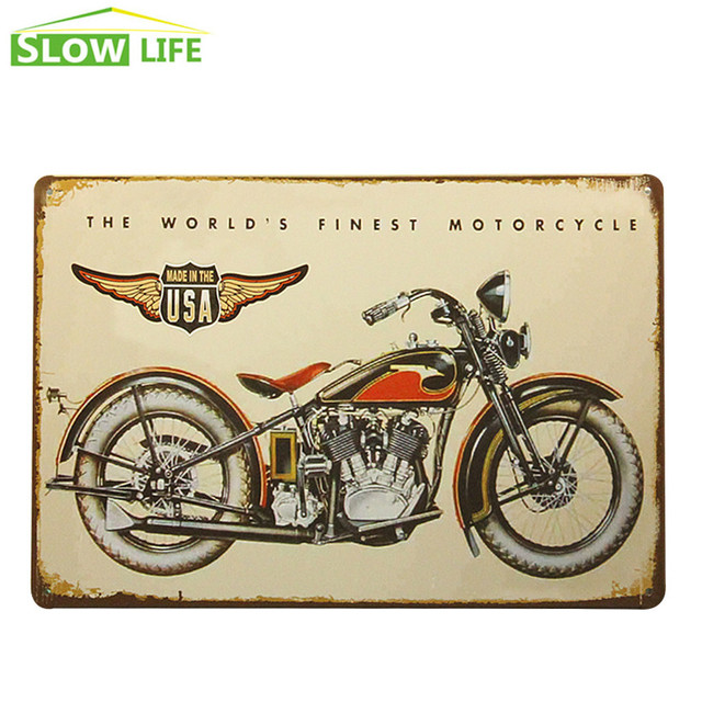 The World\'s Finest Motorcycles Bar Pub Wall Decor Tin Sign Vintage ...