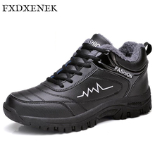 Здесь можно купить  FXDXENEK New Men Boots for Men Winter Snow Boots Keep Warm Fur&Plush Lace Up High Top Fashion Men Pu Leather Shoes Size 39-44  Men