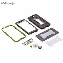 MVPower 3in1 Outdoor Assembling Dual USB Solar Power Bank Case DIY Charger Kit Set with Compass LED Light No Battery