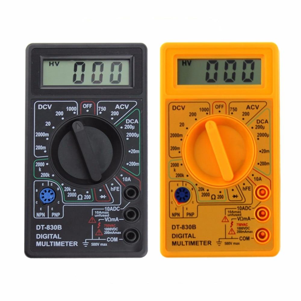 LCD Digital DT 830B Yellow Voltmeter Ohmmeter Ammeter Multimeter Handheld  Tester DT830B AC DC home tester-in Multimeters from Tools on Aliexpress.com  ...
