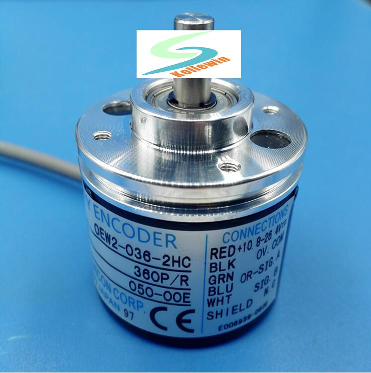 OEW2-036-2HC 360P/R encoder / tachometer optical rotary pulse encoder / incremental speed encoder, new in box, Free Shipping. ovw2 036 2m encoder new in box free shipping