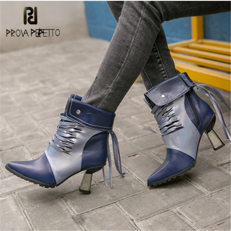 Prova Perfetto Handmade Fringed Women Ankle Boots Pointed Toe Tassels High Heel Short Boots Women Pumps Martin Boots скребок для аквариума tetra mc l магнитный