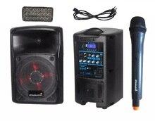 "STARAUDIO eight"" 800W Professional PA DJ Rechargeble Battery Bluetooth Speaker UHF Microphone LED Lighting SBM-8RGB"