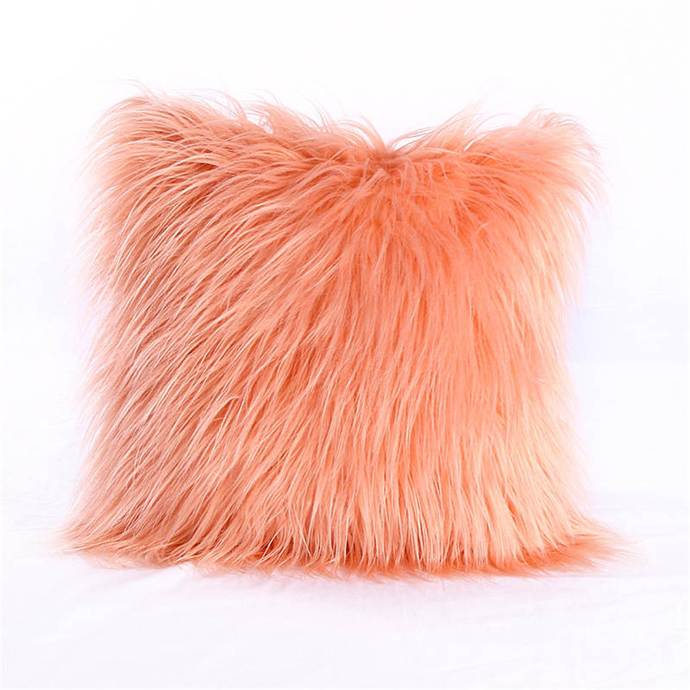 Christmas Decoration Pillow Decorative New Luxury Series Style Faux Fur Throw Case Cushion Case for Sofa Bedroom Car in Cushion from Home Garden