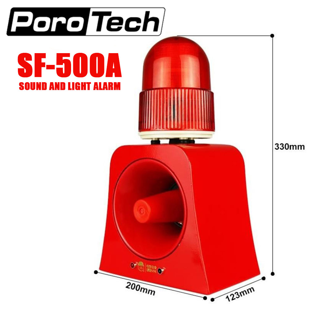 SF-500A Microwave Sensor Alarm Wireless Industrial Audible And Visual Alarm Device LED Flashing Beacon Light Siren With USB Port
