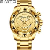Creative Sports Chronograph Watches Men Luxury Brand Quartz Calendar Gold Man Watch 2018 Wrist Watches Relogio Masculino