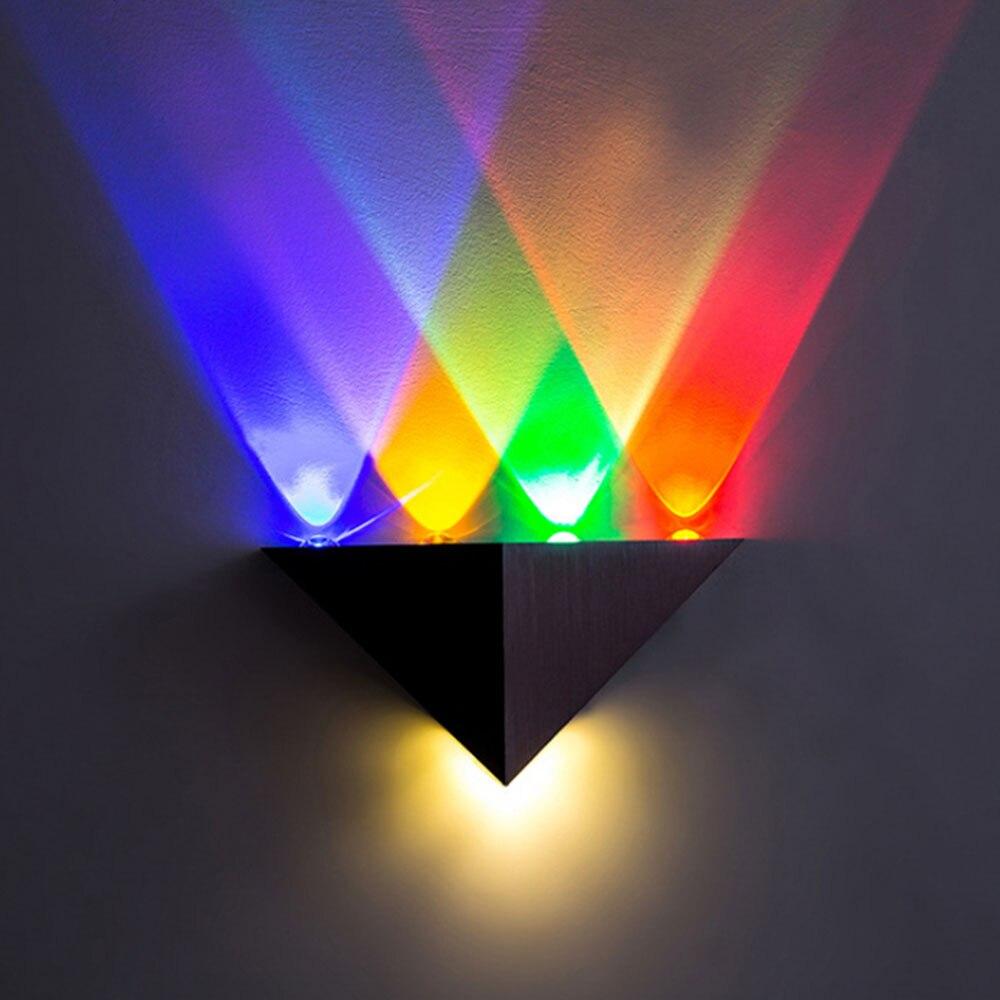 Led 5W Zidna svjetiljka Aluminijski trokut AC90-265V Visoka snaga LED - Unutarnja rasvjeta