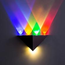 Led 5W Wall Lamp Aluminum Triangle AC90-265V High Power Led Modern Home Lighting Indoor Outdoor Party KTV Light DA