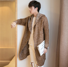 2017 Autumn Winter Loose Long Mens Cardigans Sweaters New Fashion Big Size Jumpers Mens Hooded Sueter Knit Sweater 4XL