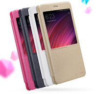 Redmi Note 4x Case Cover 5 5 Inch NILLKIN Sparkle PU Leather Flip Cover View Window