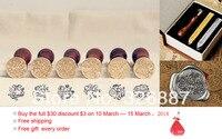 Heißer Vintage abdichtung holz stempel mit geschenk box + 2 wachs Segen Wort für DIY Scrapbooking/Kartenherstellung/Hochzeitsdekoration