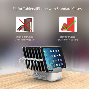 Image 5 - NTONPOWER Multi Ports USB Charger Station Dock 5V2.4A with Phone Holder Organizer Desktop charger for Phone Tablet xiaomi iPhone