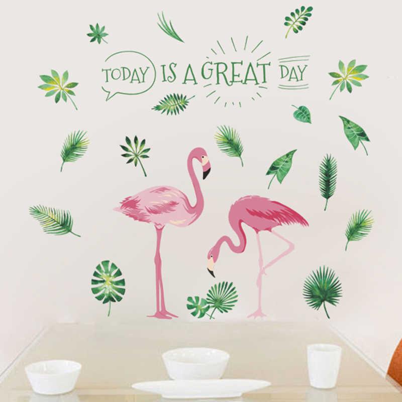 عظيم فلامنغو ورقة الزخرفية ملصقات الحائط لغرفة النوم ديكور غرفة المعيشة التلفزيون خلفية جدار الفن الرئيسية الشارات جدارية pvc ملصق