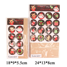 Lincaier 16 Piece Kraft Paper Christmas Gifts Bag Decorations Supplies Santa Claus Snowman Tree Deer Elk Stickers Candy Envelope