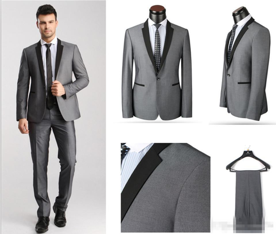 Aliexpress.com : Buy New Arrival Groom Tuxedos Black Lapel Best ...