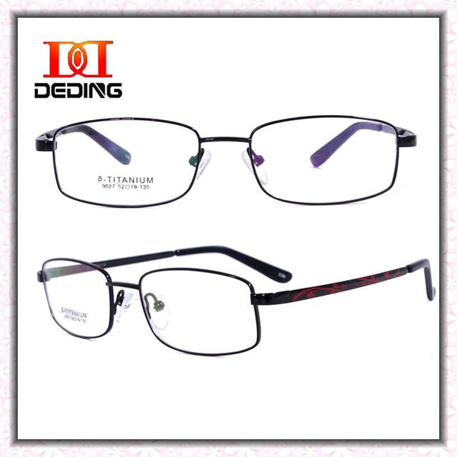 Óculos de titânio de alta qualidade das mulheres de negócios miopia óculos de armação de Oculos de Grau Feminino DD0741