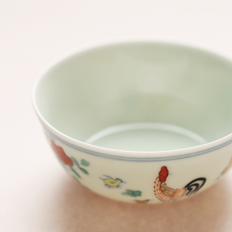 Chicken Jar Tea Cup Chinese Antique Imitation Ceramic Porcelain Ming Dynasty