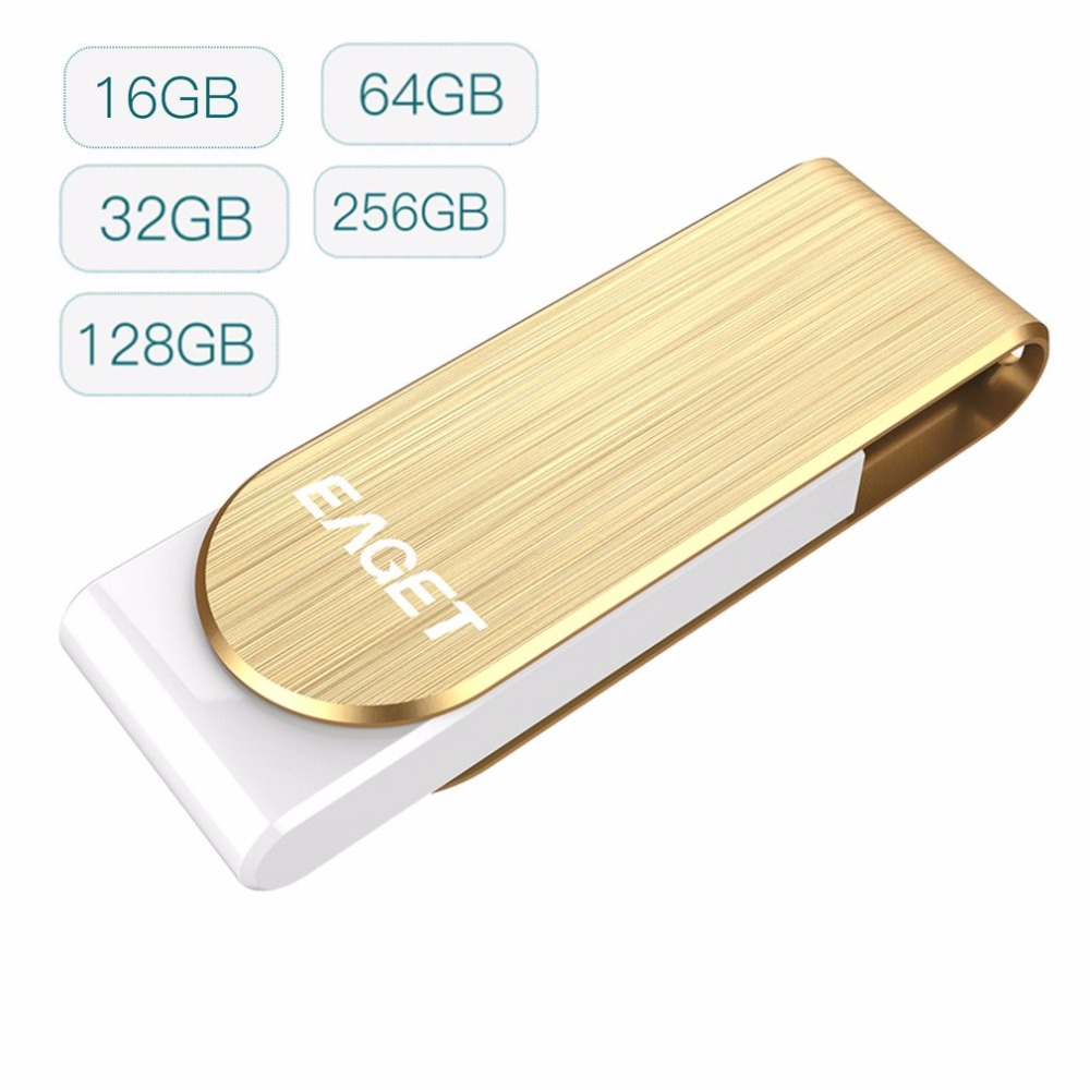EAGET F50 High Speed USB 3.0 Flash Drive Pen Drive Flash Memory Disk Metal USB Stick 16G 32G 64G 128G 256G For PC Tablet