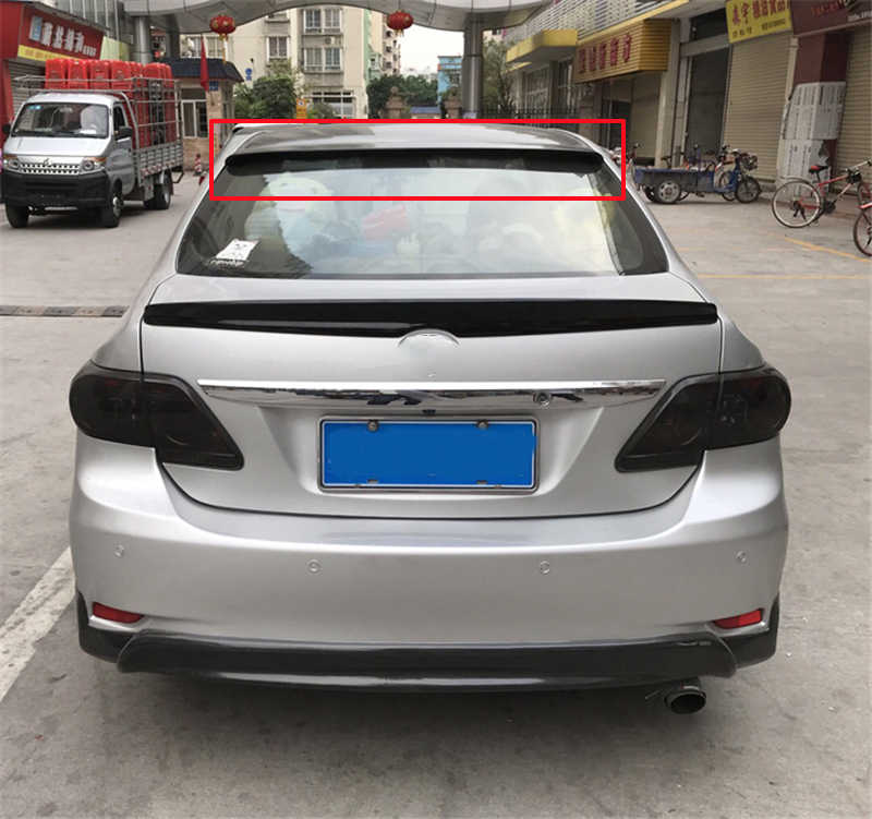 For Toyota Corolla Roof Spoiler 2006 08 09 10 11 12 13 Abs Material Colorless Colour Rear Lip Car Rear Wing Tail Spoiler Corolla Aliexpress
