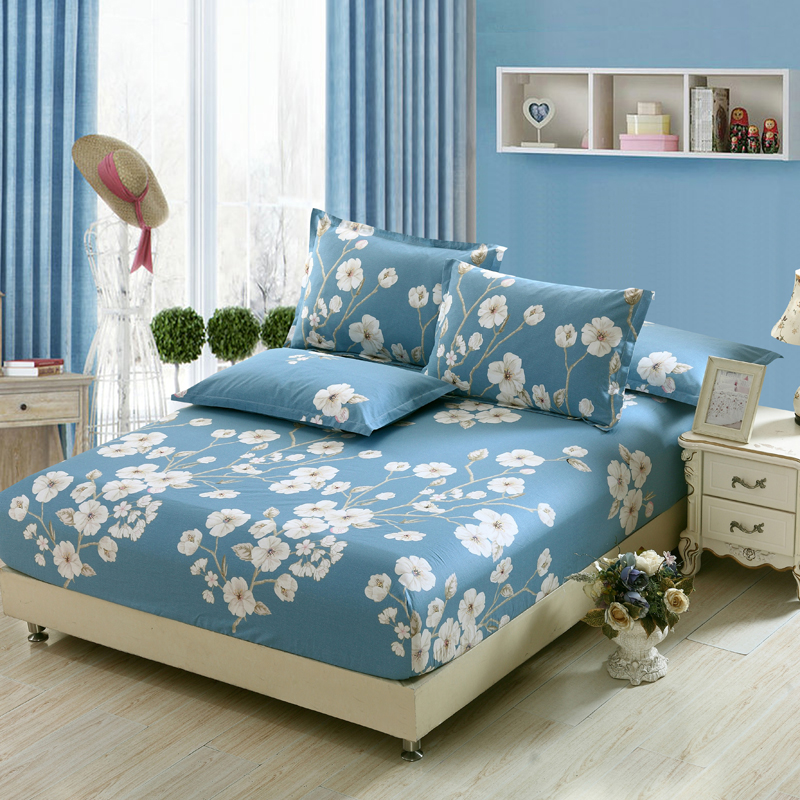 new cool summer 100cotton fitted sheets colorful bedsheet flower printed bedspread twin full