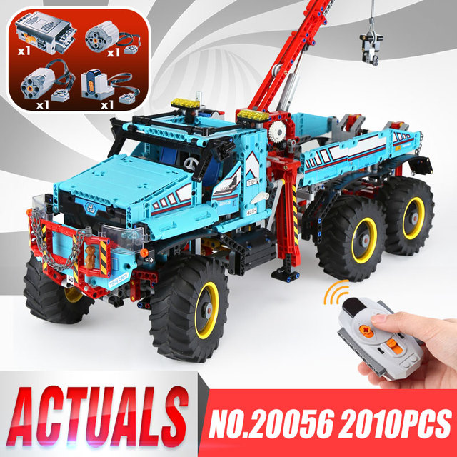 DHL 20056 Technic Series The Ultimate All Terrain 6X6 Remote Control Truck Set Building Blocks Bricks Toys legoingly 42070