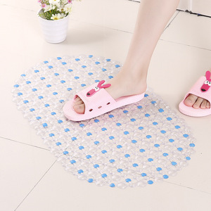 Image 5 - Non Slip PVC Bath Mat For Toilet Bath Mats Shower Bathroom Carpet Suction Anti Slip Sucker Bathroom Carpet Set Bath Mat Decor