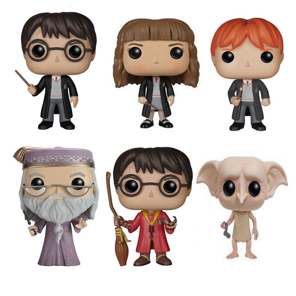 Funko pop Harry Potter - Snape, Ron, Luna, Dobby Characters 10cm Vinyl Doll Action Figure Collection Model Toys funko pop vinyl фигурка harry potter albus dumbledore 5863