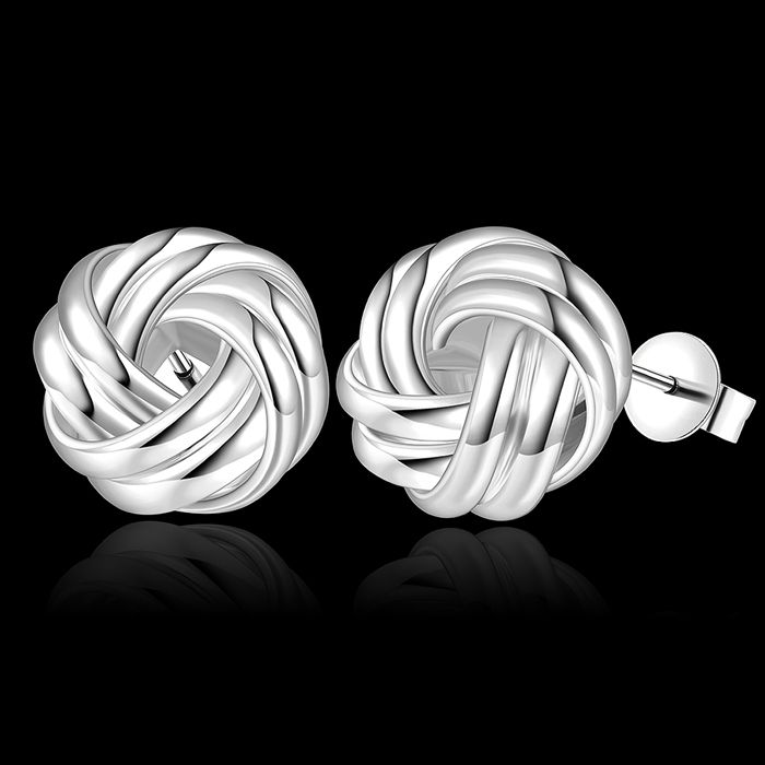 925 jewelry silver plated earrings fashion jewelry earrings beautiful earrings high quality weave knot earrings qh at