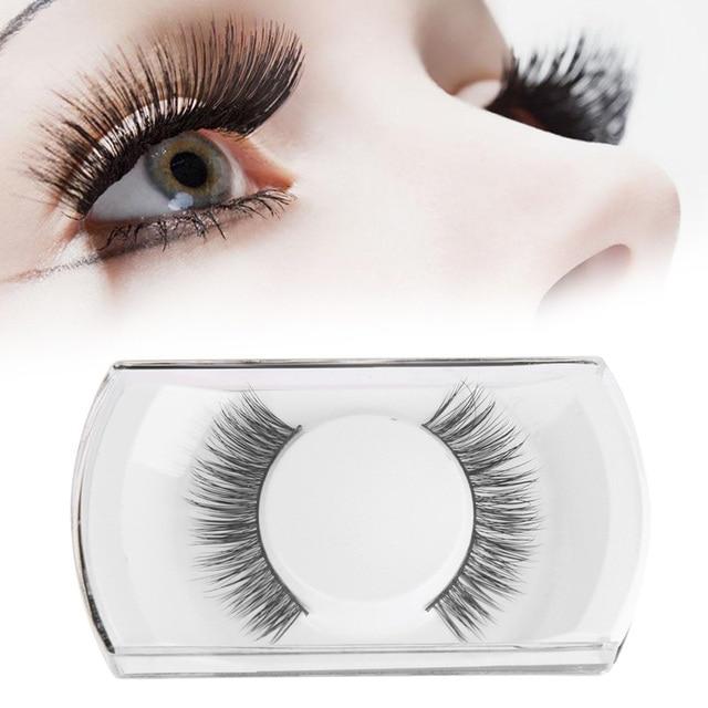 472acfcf70c 1 Pair Pro Natural Long Sparse Cross False Eyelashes Handmade Mink Hair Eye  Lashes Makeup Extension