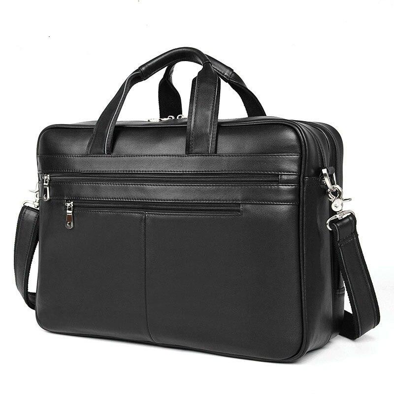 Laptop Raum Für Qualität Black Handtasche Rinds Pr57319a Aktentasche Mann Leder Männer Fit Zoll Top 17 Big Echtes Männlichen Reise Business Tasche x48Uzc
