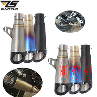 ZS Racing 51mm Motorcycle Exhaust SC Project Pipe Escape Modified Motorbike For Kawasaki Z900 Yamaha R6 MT07 Honda CBR1000
