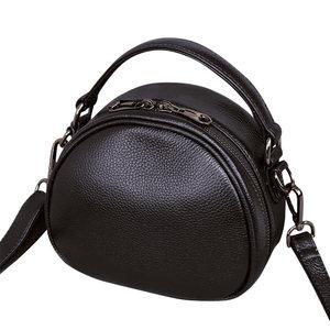 Image 4 - حقيبة جلدية أصلية موضة حقائب كروسبودي للنساء حقيبة كتف السيدات الصغيرة الفاخرة الإناث حقيبة يد محفظة حمل