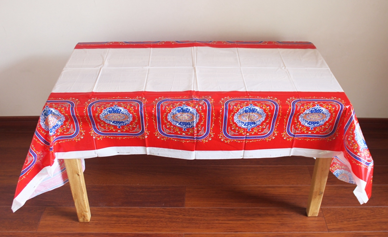 Disposable Plastic Table Cloth Eid al-Fitr Ramadan Table Covers Tablecloth Waterproof For Moslem Islamism Decoration 180*108cm
