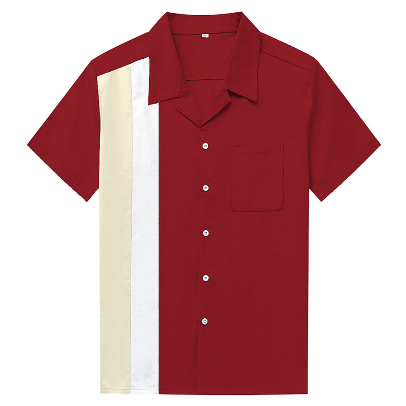 Image 3 - Charlie Harper Shirt Vertical Striped Shirts for Men 50s Rockabilly Shirt Button Down Cotton Shirts Short Sleeve Vintage Dress-in Casual Shirts from Men's Clothing